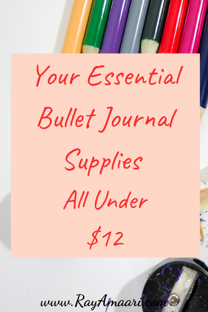 bullet journal supplues