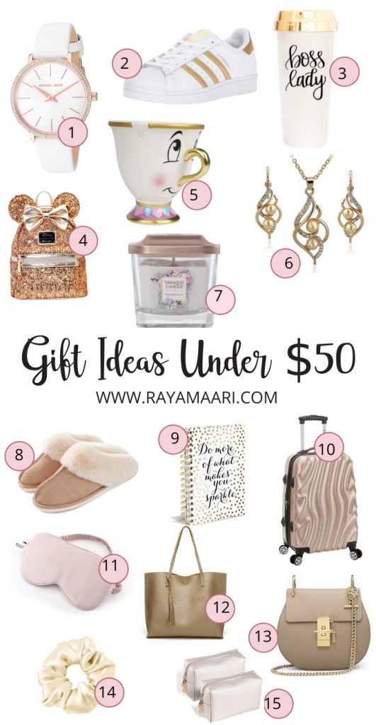 Christmas gift ideas for her under $50