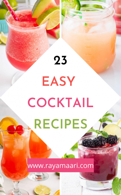 23 Easy Cocktail Recipes You Can Make At Home