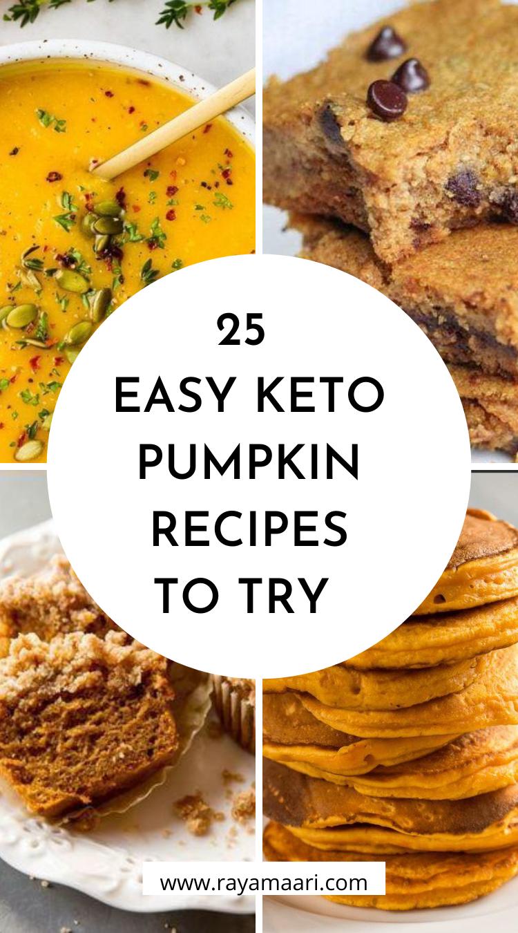 easy keto pupmkin recipes
