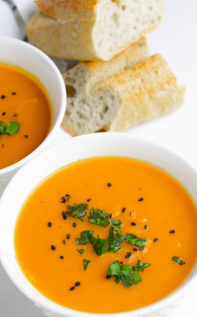 Oven-Roasted Butternut Squash Soup