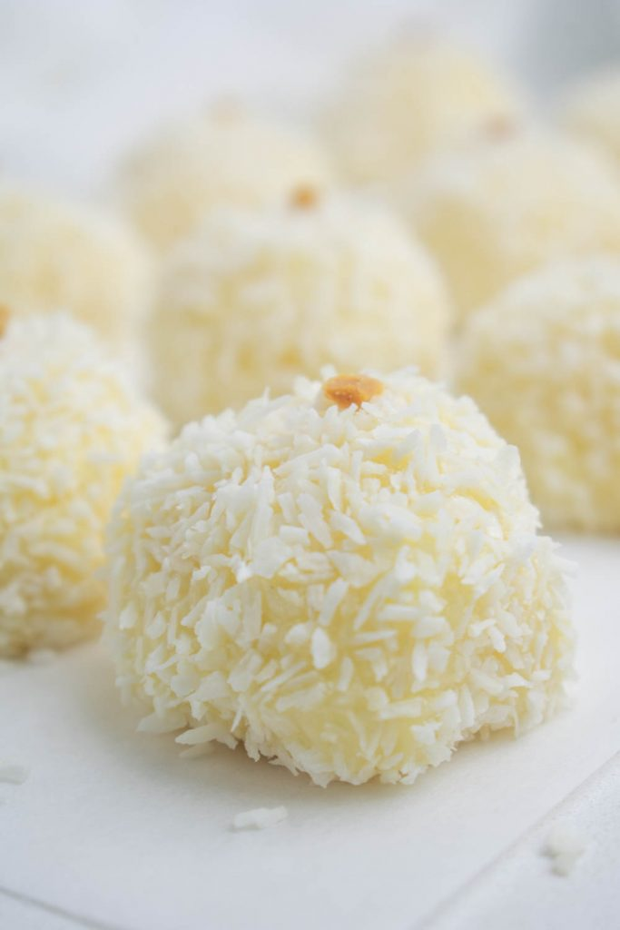 Condensed Milk Coconut Truffles