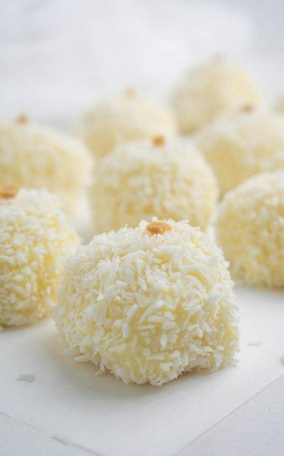 Condensed Milk Coconut Truffles