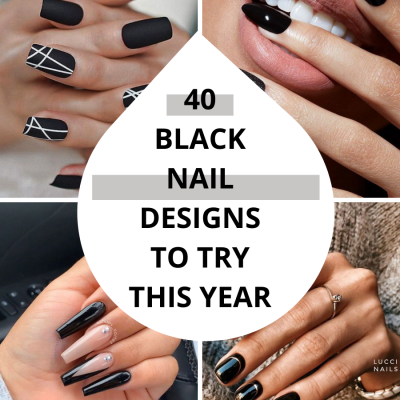 40 Black Nail Designs To Try This Year