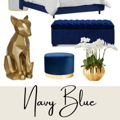25 Navy Blue and Gold Home Décor Finds