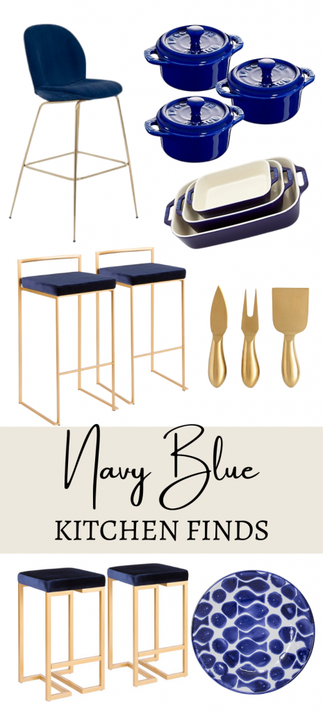 Blue and Gold Kitchen Finds