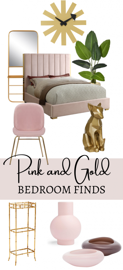 Pink and Gold Bedroom Decor Idea
