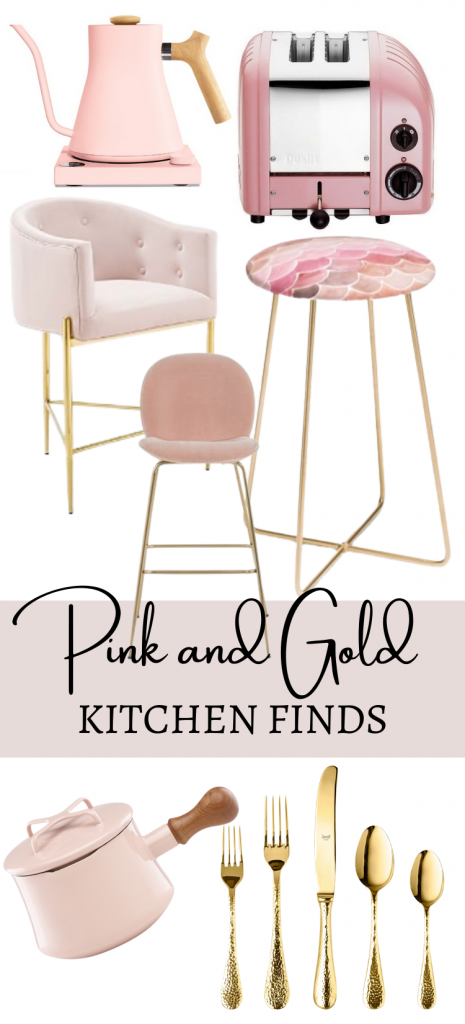 Pink and Gold Kitchen Finds