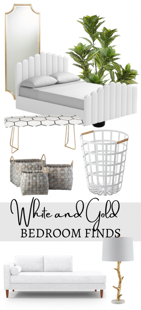 White and Gold Bedroom Accessories