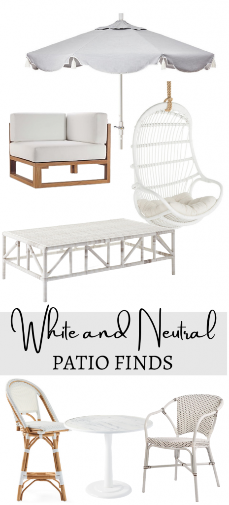 White Patio Décor Accessories